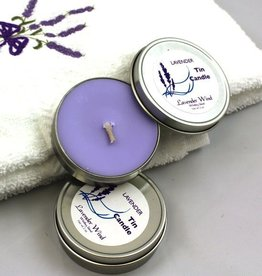 Lavender Wind Lavender Tranquility - Candle in a Tin 2 oz.