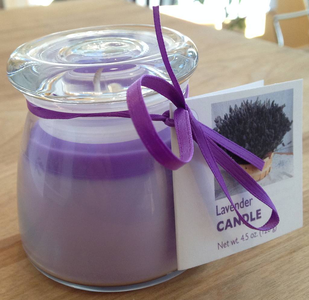 Lavender Wind Lavender Tranquility Candle - Glass Top