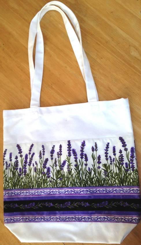 Lavender Wind Lavender Tote Bag