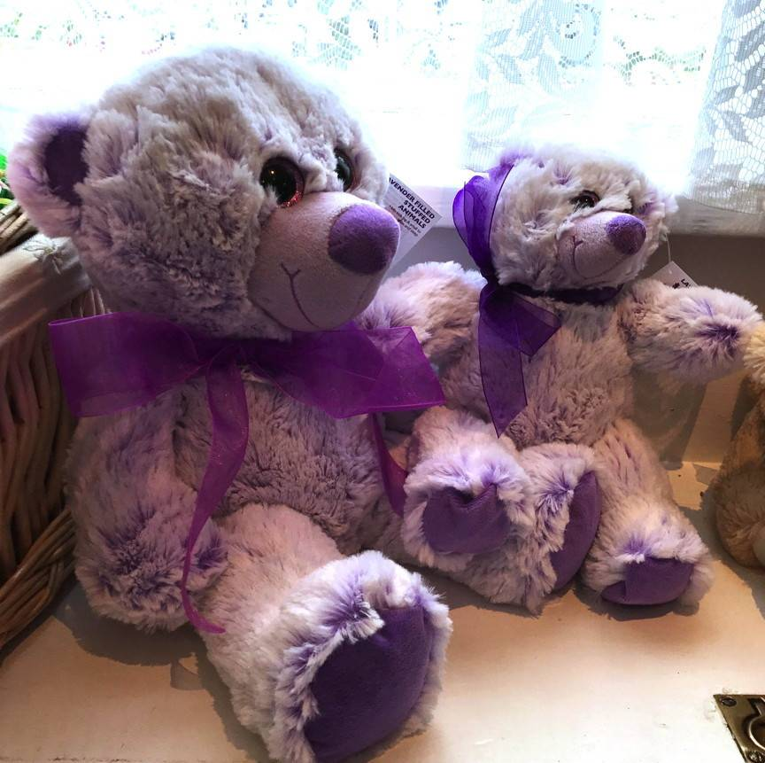 "Lavender Wind Stuffed Bear, ""Lavendula"" Large 16"""