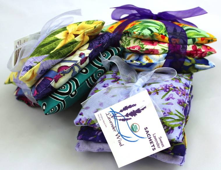 Lavender Wind Sachet, Sweet Lavender (set of 3)