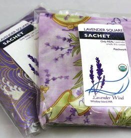Lavender Wind Sachet, Lavender Fabric Square