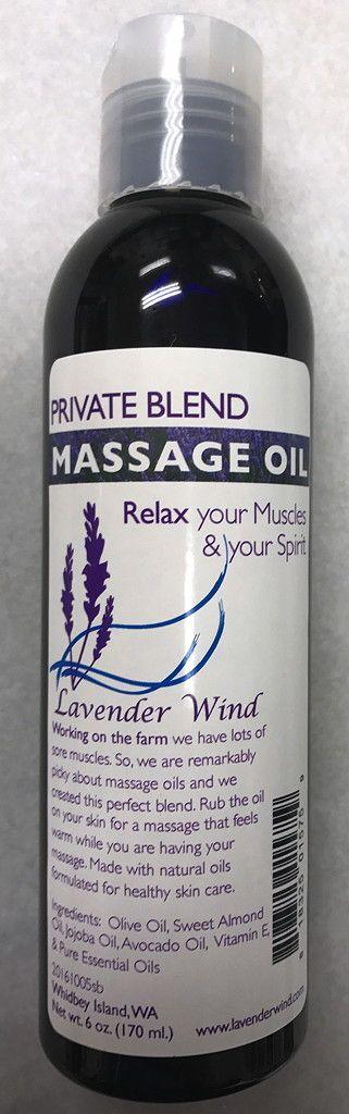 Private Blend Massage Oil - Medium 6oz