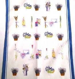 Lavender Wind Tea Towel - Portugal, Lav Blue Border