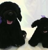 """Lavender Wind Stuffed Dog, """"Shadow"""", 16"""""""
