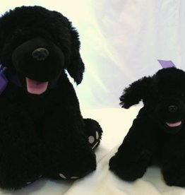"Lavender Wind Stuffed Dog, ""Shadow"", 16"""