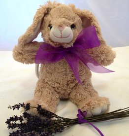 "Lavender Wind Stuffed Bunny, ""Flopsy"", 8"""