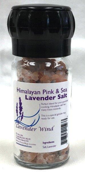 Lavender Wind Salt, Lavender - in Grinder Jar