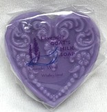Lavender Wind Small Heart Lavender Goat's Milk Soap