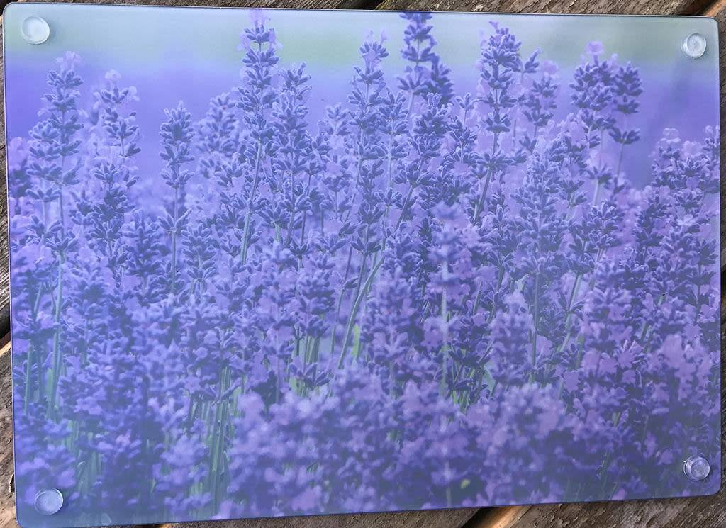 Lavender Wind Glass Cutting Board - Lavender Purple