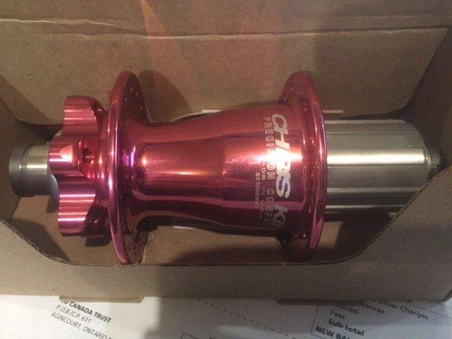Chris King Chris King Rear Hub - Pink, 32H, 148mm x 12mm
