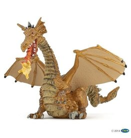 Papo Gold Dragon with Flame