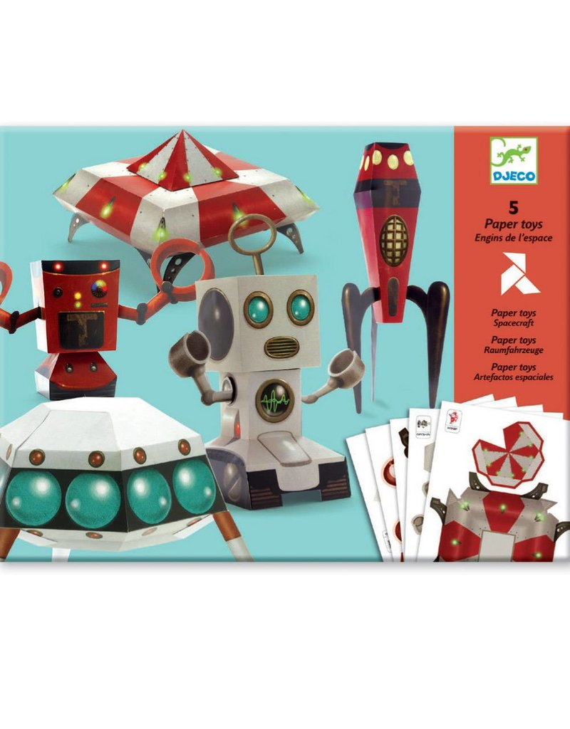 Djeco (Hotaling Imports) Paper Toys - Spacecraft