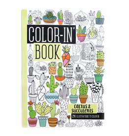 International Arrivals Color-in' Book - Cactus