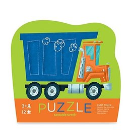Crocodile Creek Dump Truck Mini Puzzle 12 pc