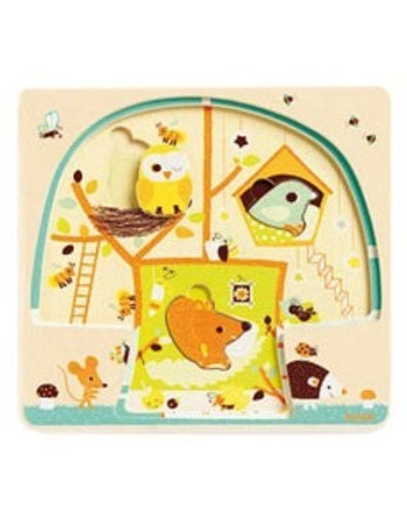 Djeco (Hotaling Imports) Chez-Nut Wooden Puzzle