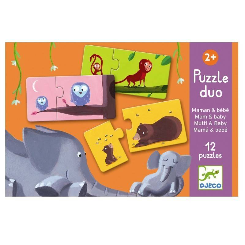 Djeco (Hotaling Imports) Puzzle Duo- Mom
