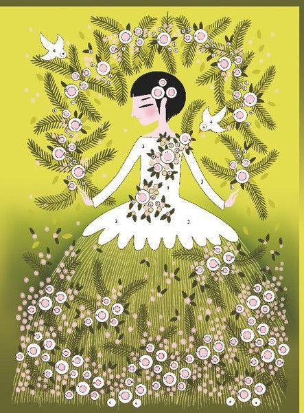 Djeco (Hotaling Imports) Glitter Boards - Glitter Dresses