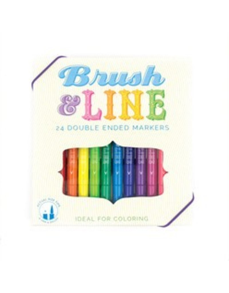 International Arrivals Brush & Line Double Sided Markers