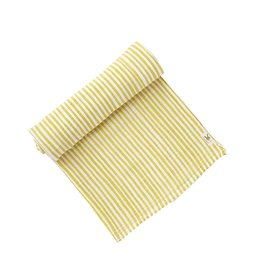 Pehr Citron Striped Swaddle Blanket
