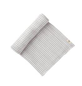Pehr Grey Striped Swaddle Blanket