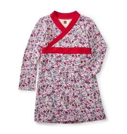 Tea Collection Ikebana Wrap Neck Dress