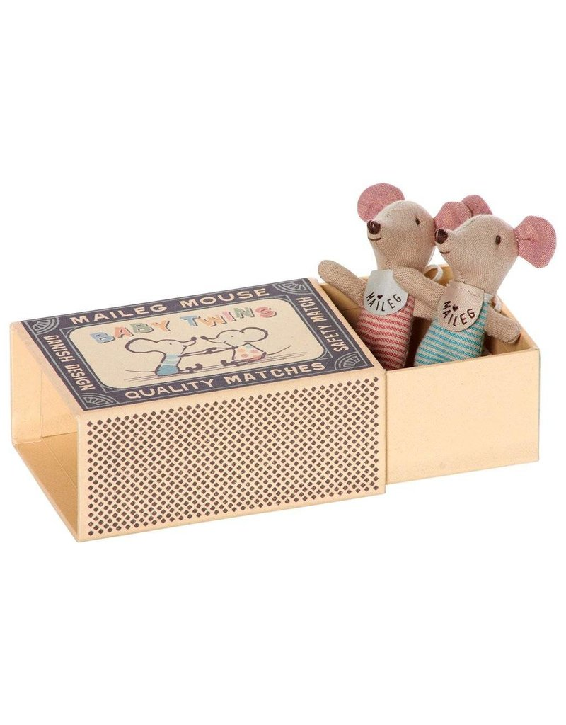 Maileg Baby Twins , Mice in Box
