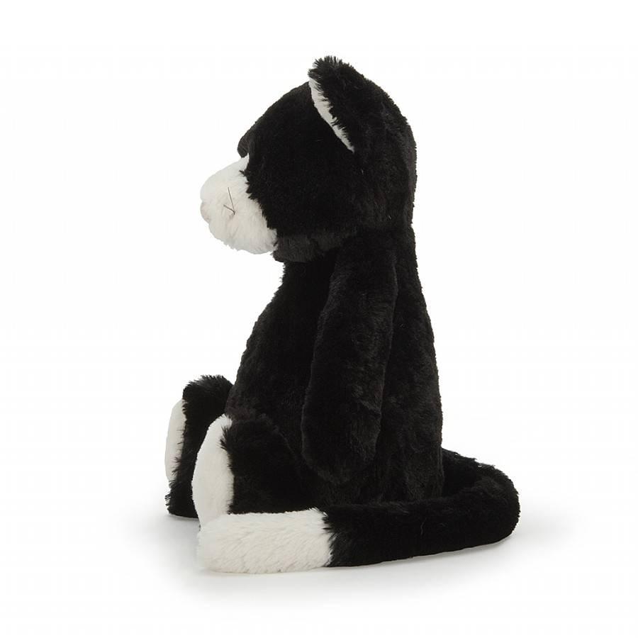 Jellycat Bashful  Black & White Kitty - Medium