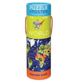 Crocodile Creek World Puzzle + Poster 200 pc