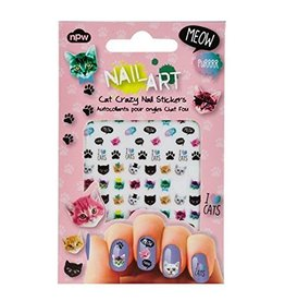 NPW Cat Crazy Nail Art Stickers