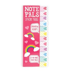 International Arrivals Note Pals Sticky Tabs- Rainbow Hearts