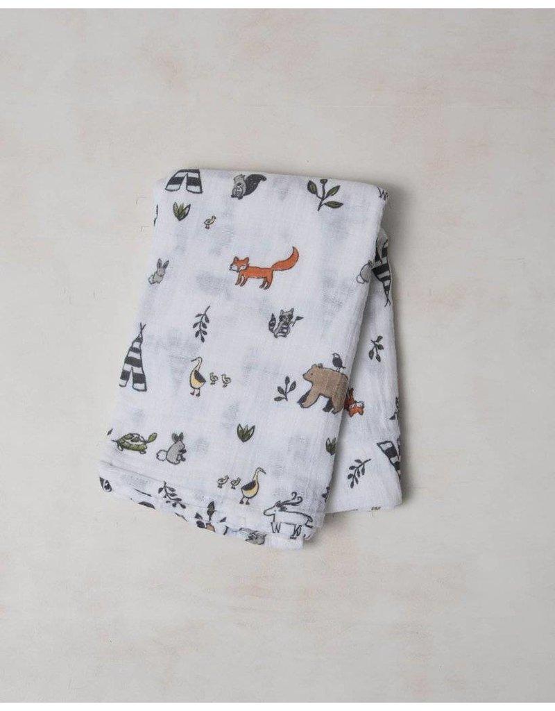 Little Unicorn Swaddle Blanket - Forest Friends