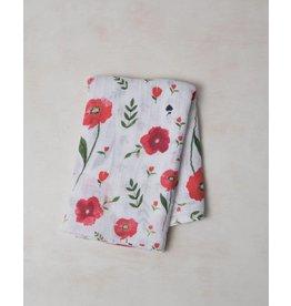 Little Unicorn Swaddle Blanket - Summer Poppy