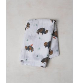 Little Unicorn Swaddle Blanket - Bison