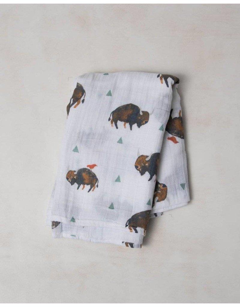 Little Unicorn Swaddle Blanket - Bison