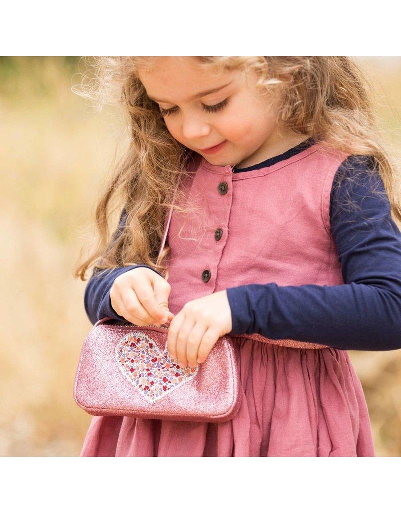 Peppercorn Kids Heart Glitter Purse