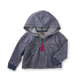 Tea Collection Coral Sea Zip Baby Hoodie