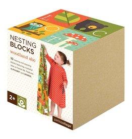 Petit Collage Woodlands Nesting Blocks