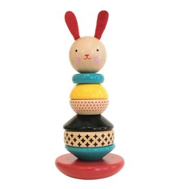 Petit Collage Rabbit Stacking Toy
