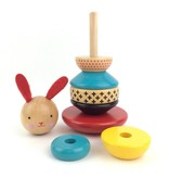Petit Collage Wooden Stacking Toy - Rabbit