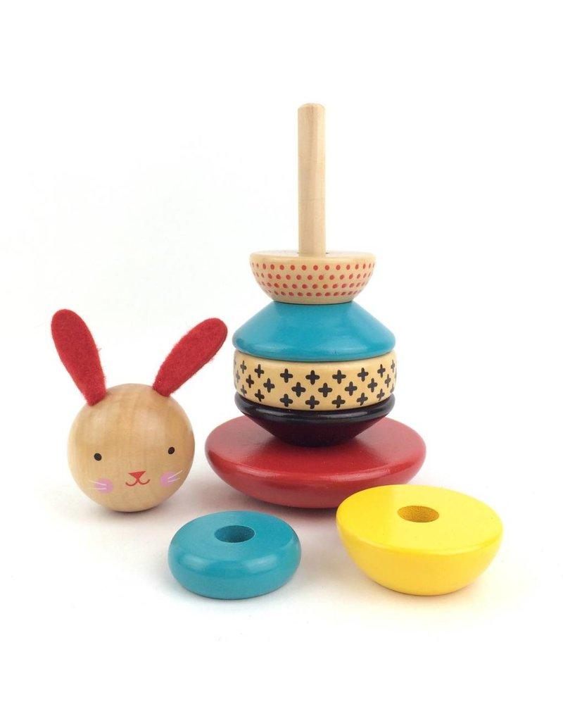 Petit Collage Wooden Stacking Toy - Rabbit
