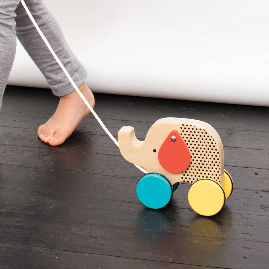Petit Collage Wooden Pull Toy - Elephant