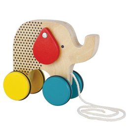 Petit Collage Elephant Pull Toy