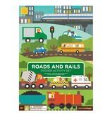 Petit Collage Sticker Activity Set - Roads & Rails