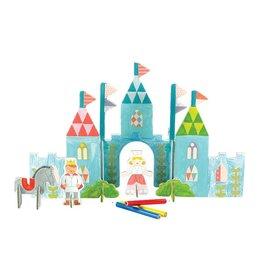 Petit Collage Pop-Out Color In Castle