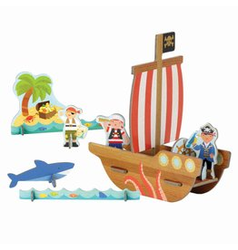 Petit Collage Pop-Out Pirate Ship
