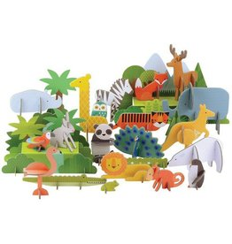 Petit Collage Pop-Out Deluxe Animals