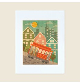 Petit Collage San Francisco Cable Car, Unframed 11x17