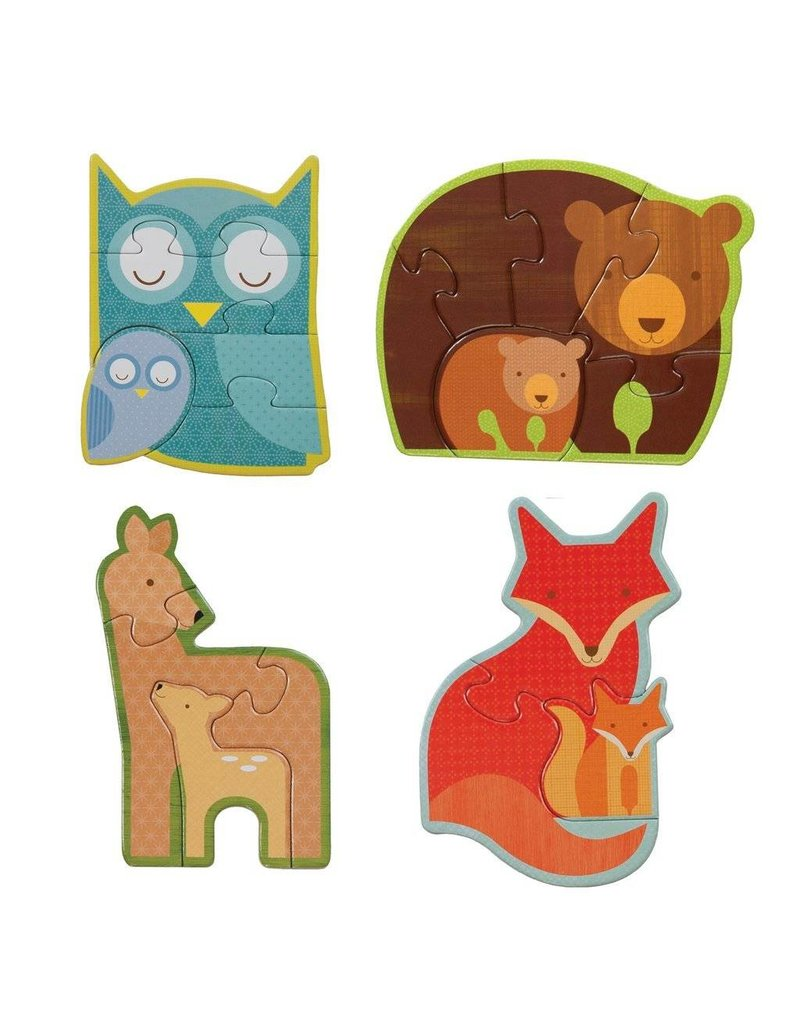 Petit Collage Beginner Puzzle - Forest Babies