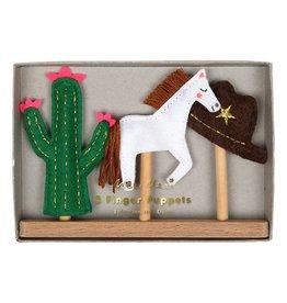 Meri Meri Finger Puppets- Wild West